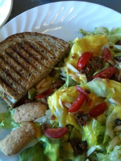 Chicken Pesto Panini & Carolina Classic Salad