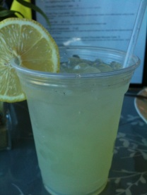 Vanilla Bean Lemonade at The Cottage Cafe