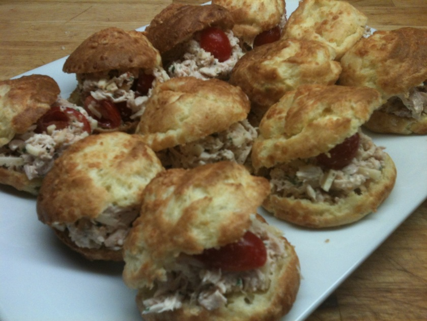 Chicken Salad filled Gougeres