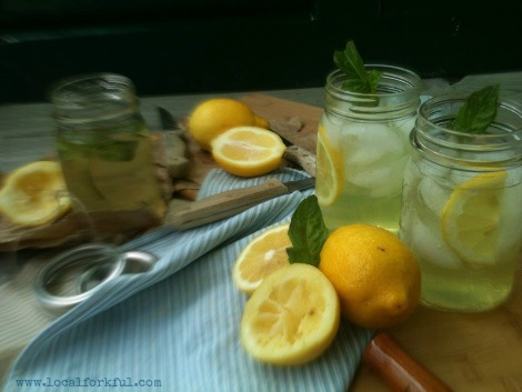 Sweet Basil Lemonade: Recipe by The Local Forkful