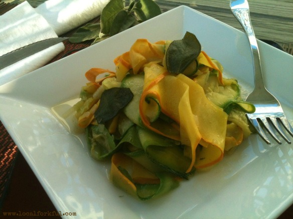 Zucchini Ribbons in Sage Brown Butter