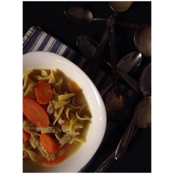 quick and easy chicken noodle soup by The Local Forkful