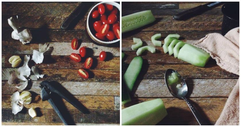 Cornbread Panzanella Salad on The Local Forkful Food Blog