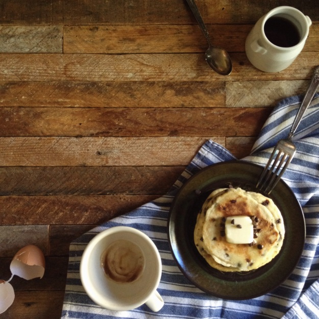 Chocolate Chip Pancakes  and  Sweet Potato Butter Pancakes