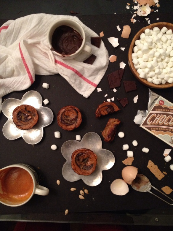 Torched Marshmallow Pumpkin Pie with Olive & Sinclair Chocolate