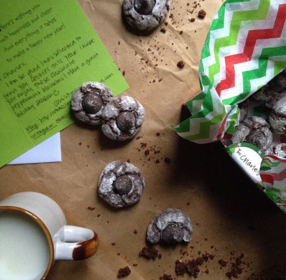 Chocolate Peppermint Blossoms via The Great Food Bloggers Cookie Swap