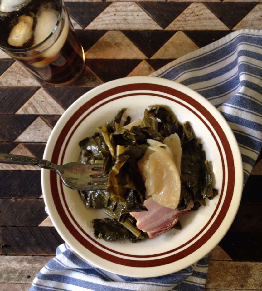 Collard Greens, Pork belly, Turnips and New Year's Tradition