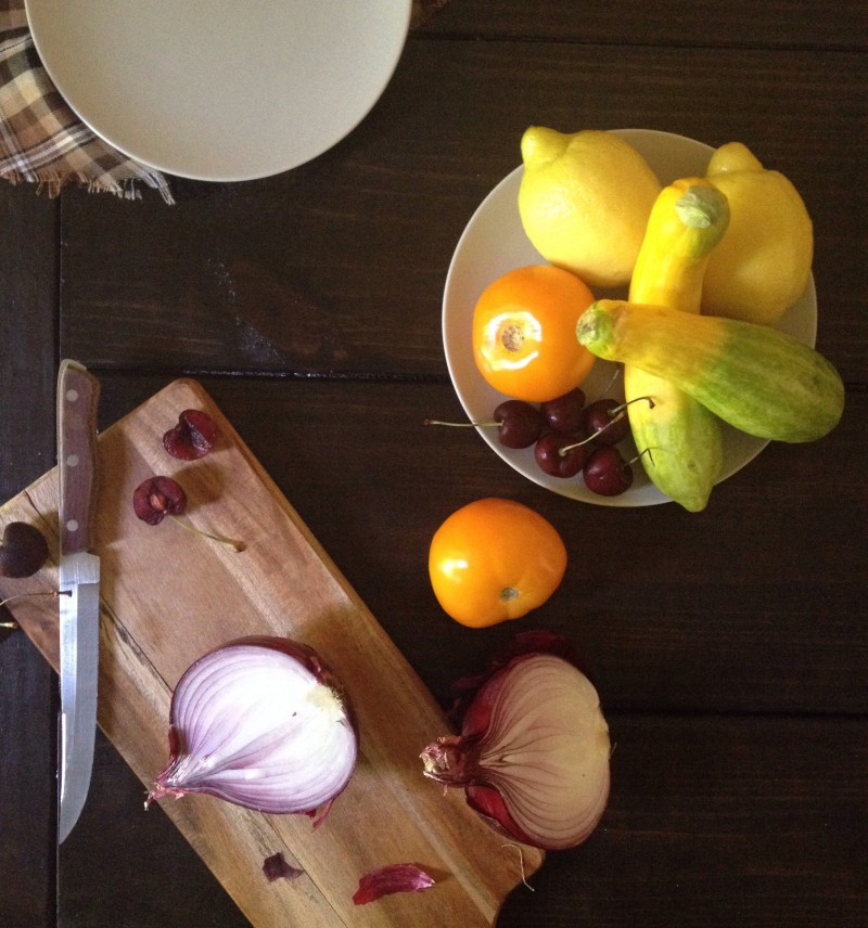 The Asheville Wine & Food Festival & A Summer Tomato, Tart Cherry with Squash Salad