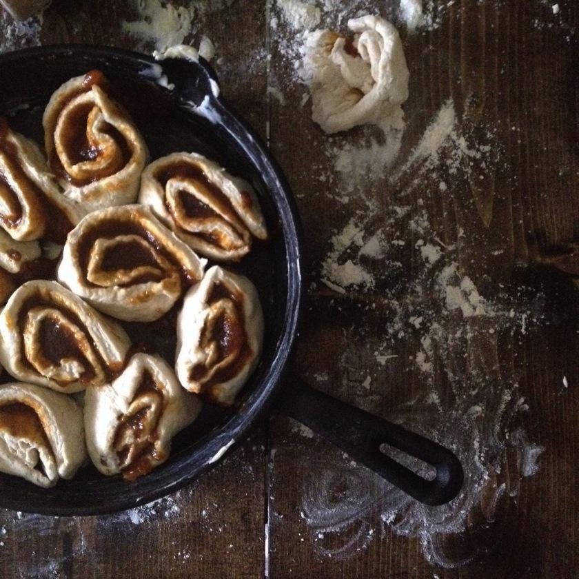 Pecan Pumpkin Butter Biscuit Cinnamon Rolls